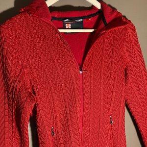 NWOT Spyder red core hooded hoodie sweater
